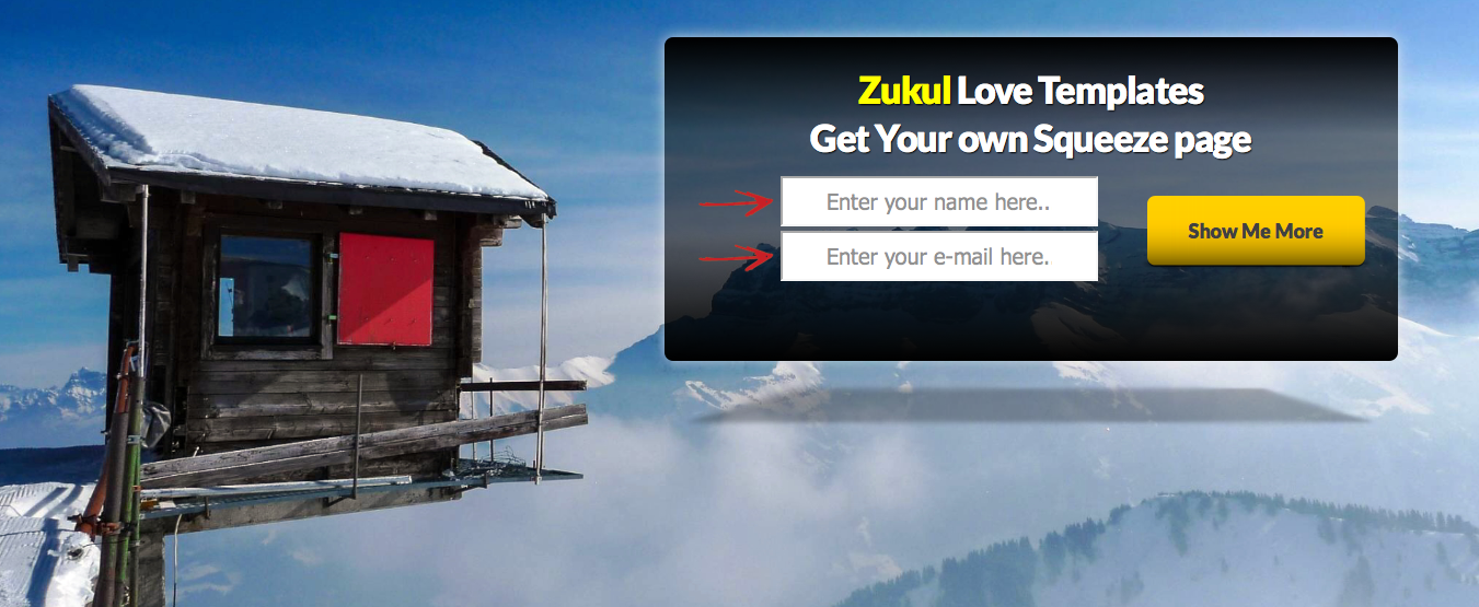zukul landing pages and squeeze pages